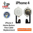 NEW WHITE Complete Home Button with Flex Cable Replacement For iPhone 4 (A1332)
