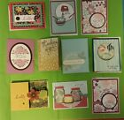 Lot of 10 Assorted cards made with Stampin Up supplies Thanks Hello Get Well