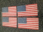 JOLEES BY YOU DIMENSIONAL STICKERS 4 GLITTER FLAGS PATRIOTIC SPARKLE FLAGS NEW
