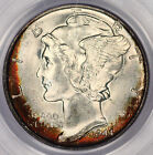 1944-S Mercury Dime PCGS MS67 ! Superb Gem Unc! Rainbow Color Toned! U2