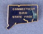 Connecticut DARState Page Gold Filled  Enamel Pin c 1990s