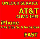 ATT USA Factory Unlock Service iPhone 3g 4 4S 5 5C 5S 6 6+ 6S 6S+ SE 7 7+ Clean
