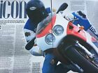 BIMOTA FURANO - ORIGINAL 5 PAGE 1994 MOTORCYCLE ARTICLE / ROAD TEST