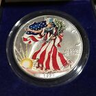 1999 Painted American Eagle 999 Fine Silver Dollar 1 Troy Ounce With Box