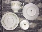 SANGO DEBUTANTE 3688 Footed Cup and Saucer Set LOT OF 4 (2 CUPS+2 SAUCERS)