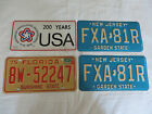 vintage auto car license plate plates tags florida new jersery usa bicentennial