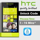 Unlock code HTC Radar Desire 625 626s 8X 512 Sensation One HTC M7 M8