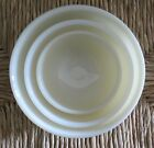 VINTAGE SET OF 3 FIRE KING NESTING IVORY GLASS BOWLS