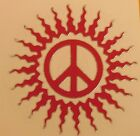 RED Peace Sign Vinyl Decal Sticker 275 Diameter Made in USA