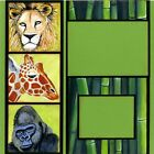 DAY AT THE ZOO 2 Premade Scrapbook Pages EZ Layout 2109