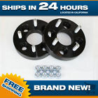 Black 4x100 Billet Wheel Spacers Adapters 2pc 1 inch fits Honda Toyota cb 4 lug