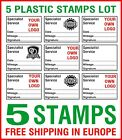 5 Garage Mechanics Rubber Stamps Manual Excellent Service History 1+ink pad