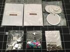 Lot of 6 Scrapbook Embellishments Buttons Tags Flat Back Gems Charms 50pcs