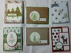 Lot of 6 Assorted Pretty Christmas cards made w Stampin Up supplies FREE SHIP