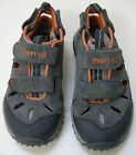 Merrell Shoes Sandals Kids Performance Gray Orange Sneakers Size 13