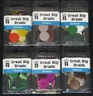 HOTP GREAT BIG BRADS 20mm 24pcs Choose from 6 colours Card Making Craft