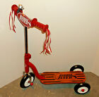 RADIO FLYER Scooter Vintage Retro Style Wood Deck Red Frame Model 510 Kids Twist