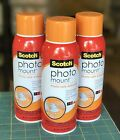 3 X 103 Oz Cans Scotch Photo Mount Photo Safe Adhesive Spray Clear Permanent
