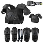 Kids Pee Wee Chest Protector Knee Guards Elbow Guards Goggle and Sock Package