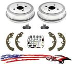 Rear Drums Brake Shoes Wheel Cylinders  Spring Kit Corolla  Prizm Non ABS