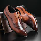 Mens Dress Formal Oxfords Leather shoes Business Casual Classic Bullock Shoes