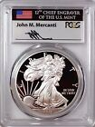 2017 S Proof Silver Eagle PCGS PR69 DCAM Mercanti First Day of Issue