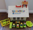 Fisher Price Little People 1971 Play Family School House Toy Vintage