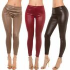 Ladies' Leggings Leggigs Trousers Slim Wetlook Leather Look 34 36 38