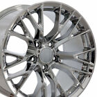 17x95 Wheels Fit Camaro Corvette C7 Z06 Chrome Rims 5734 W1X SET