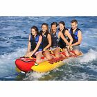 AIRHEAD HD 5 Jumbo Hot Dog 5 Person Rider Inflatable Towable Tube w Tow Rope