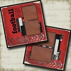 FOOTBALL RED 2 Premade Scrapbook Pages EZ Layout 7