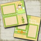 BABY SHOWER 2 Premade Scrapbook Pages EZ Layout 47
