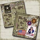 ARMY Premade Scrapbook Pages EZ Layout 137