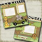 WHAT A ZOO 2 Premade Scrapbook Pages EZ Layout 983