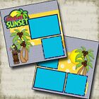 TROPICAL SUNSET 2 Premade Scrapbook Pages EZ Layout 2118