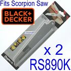 X29962 Black & Decker x 2 Scorpion Saw Blades Fits RS890K Saw Wood & Plastic