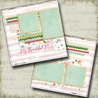 MY BEAUTIFUL MOM 2 Premade Scrapbook Pages EZ Layout 2047