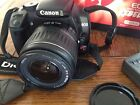 Canon EOS Digital Rebel XTi EF S 18 55 Kit Black slightly used