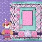 BIRTHDAY GIRL BEAR 2 Premade Scrapbook Pages EZ Layout 827