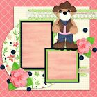 COWGIRL BEAR 2 Premade Scrapbook Pages EZ Layout 830