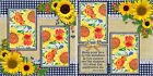 SUNFLOWERS 2 Premade Scrapbook Pages EZ Layout 108