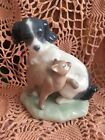 LLADRO NAO 1048  Cat And Dog in Harmony Retired! Mint Condition! No Box! L@@K!