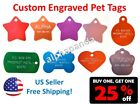 Custom Engraved Personalized Pets Names Tags IDs Dogs Cats Collars Charms 2 SIDE