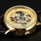 FORSINING Luxury Hollow Carve Design Leather Band Mechanical Wrist Watch Men Uhr