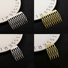 10pcs Women Golden Silver Metal Hair Comb Clip Hairpin Wedding Bride Accessories
