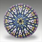 Vintage Perthshire PP1 millefiori and twist glass paperweight presse papiers