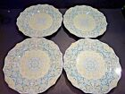 Set Of FOUR 222 FIFTH LYRIA TEAL 8 3/4