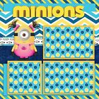 MINIONS 2 Premade Scrapbook Pages EZ Layout 958