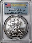 2017 W 1 Burnished Silver Eagle PCGS SP70 First Strike First Day of Issue