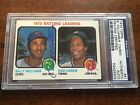 1973 Topps Rod Carew Billy Williams LEADERS Autograph Auto Signed PSA DNA